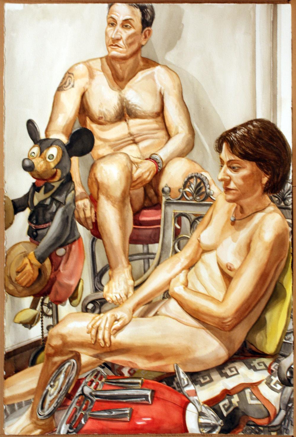 Craig and Sondra Kurtz , 2008 Watercolor 60 x 40 inches