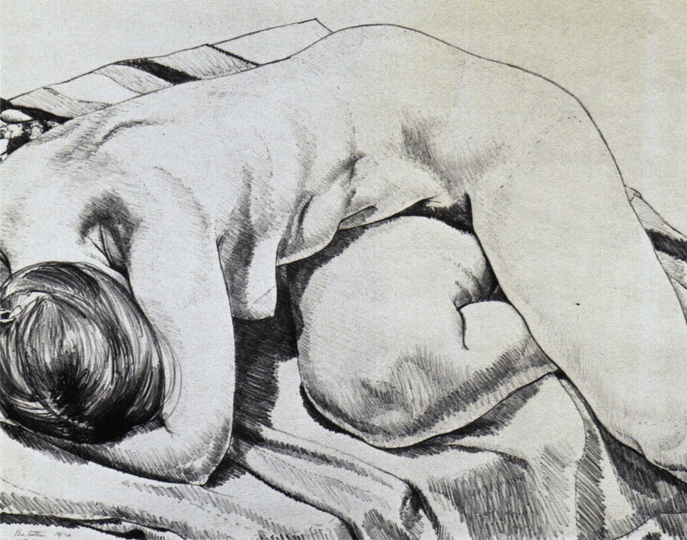 Nude Curled Up , 1969 Lithograph 46 x 58.5 cm