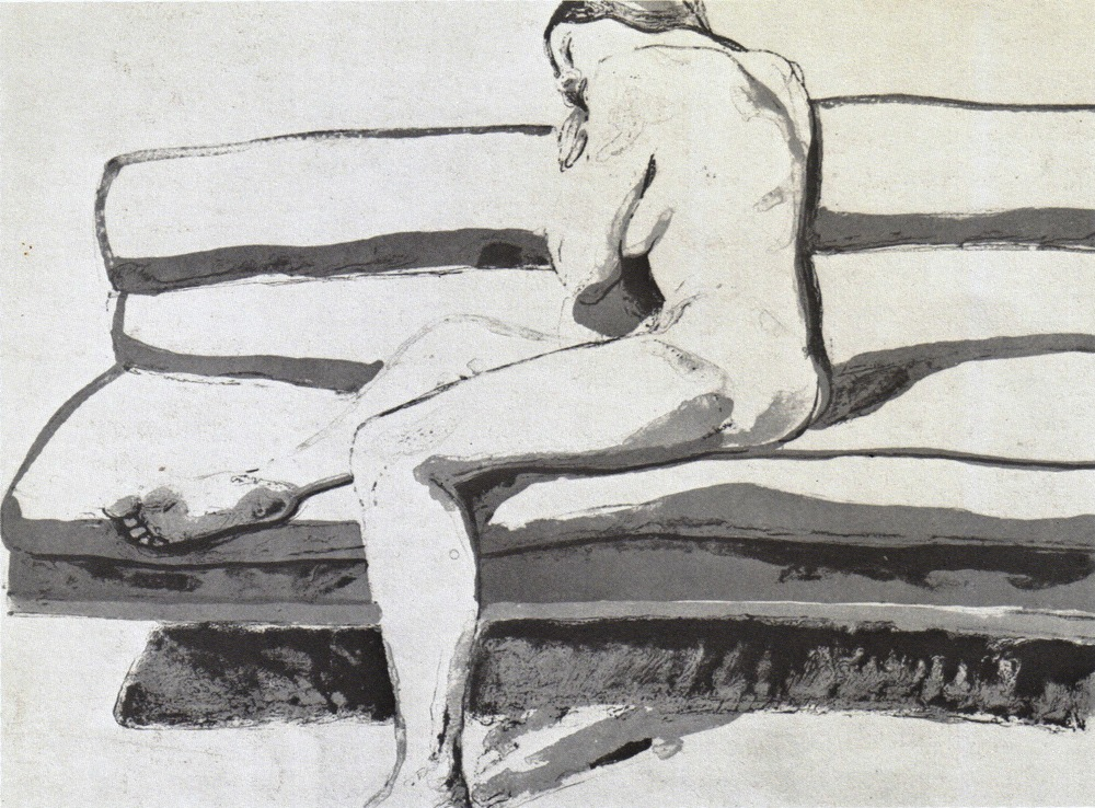 "Nude on Couch , 1969 From portfolio ""Six New York Artists"" Color Lithograph 55.9 x 76.2 cm"