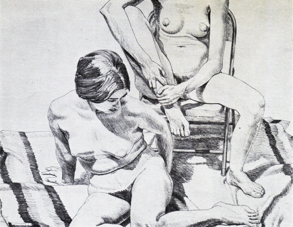 Two Nudes , 1969 Lithograph 57 x 73.7 cm