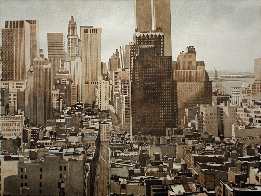 VIEW OVER SOHO LOWER MANHATTAN , 1978 Etching and aquatint on paper 30 x 40 inches