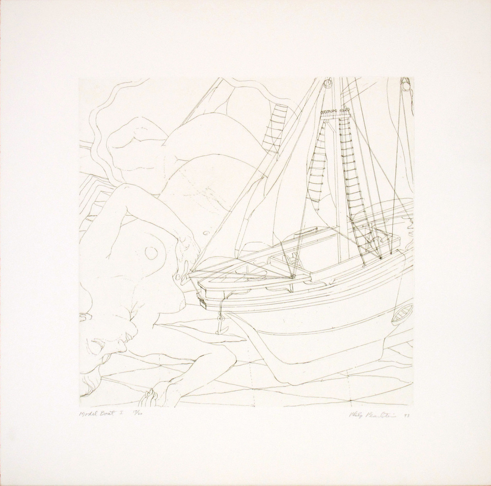 Model Boat I , 1993 Line etching 13 x 13 in