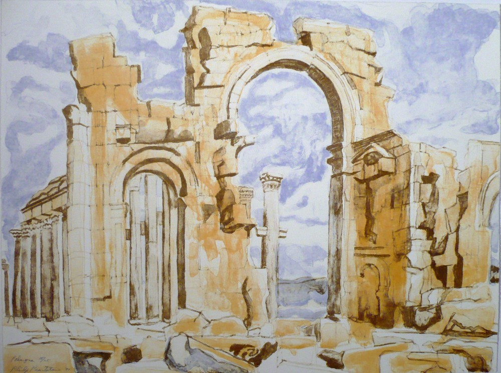 Palmyra , 1994 Lithograph 18 x 24 in
