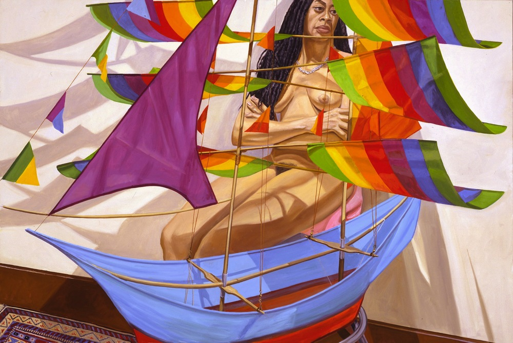 MODEL AND CHINESE KITE , 2005 Oil on canvas 48 x 72 inches