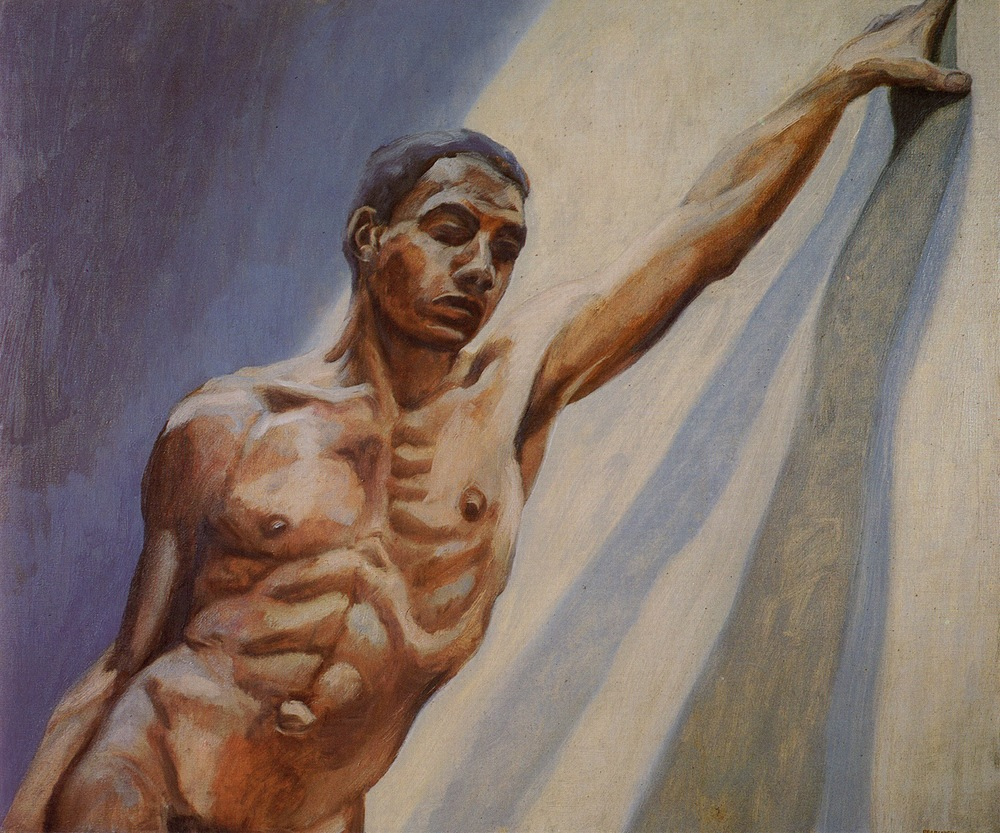 Maurice, Arm Stretched , 1963 Oil on canvas  30 x 36 inches