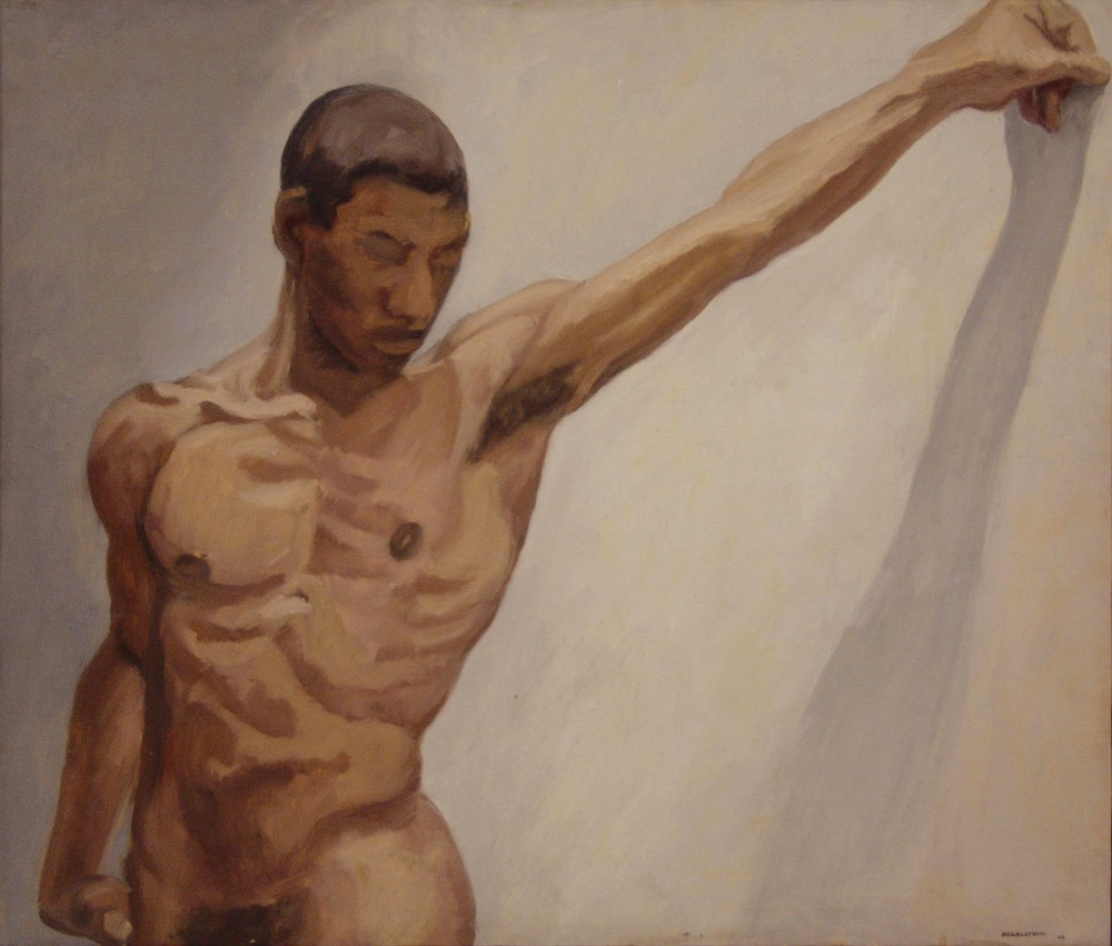 Male Torso, Arm Outstretched , 1963 Oil on canvas 26 x 30 inches
