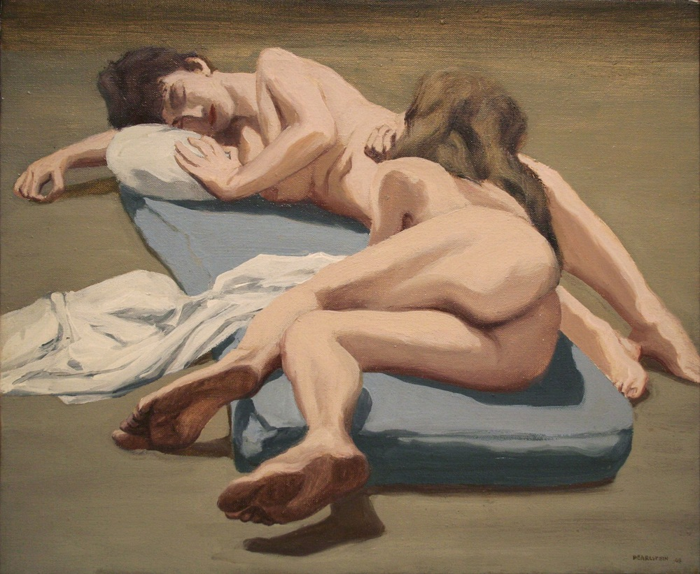 Two Models , 1963 Oil on canvas 14 x 17 inches
