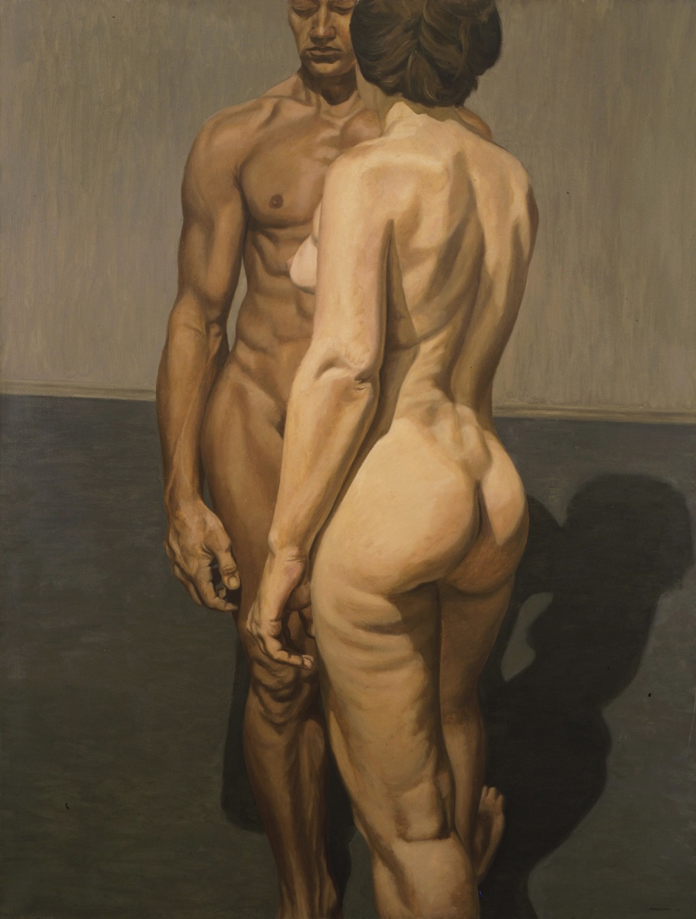 Two Standing Models , 1964 Oil on canvas 72 x 54 inches Collection of Haas and Fuchs client