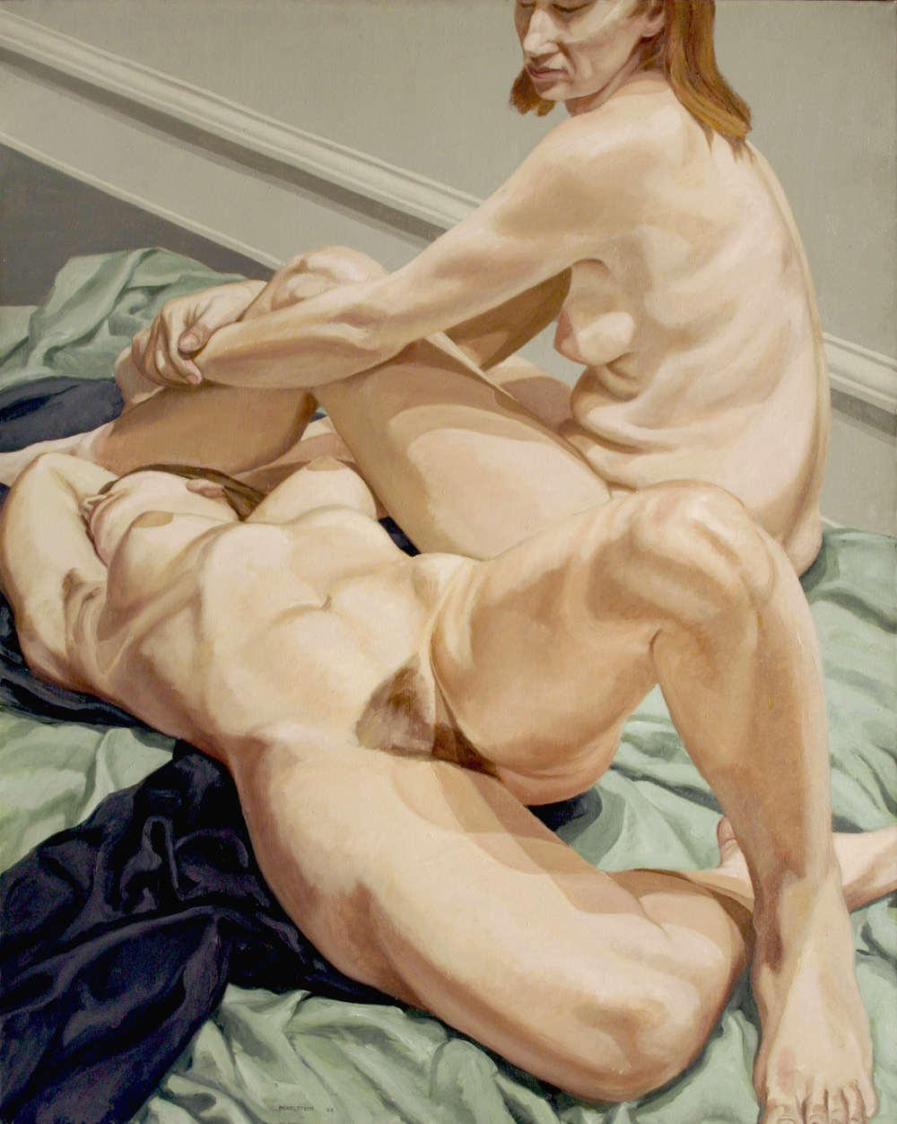 Two Female Nudes , 1964 Oil on canvas 60 x 47 5/8 inches