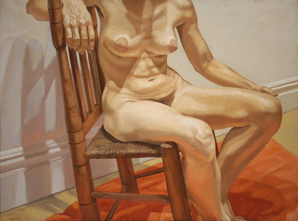 Nude on Rusty Chair , 1969 Oil on canvas 21 x 23 inches