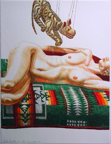 1995, Tiger Marionette, Lithograph, PPS114.JPG