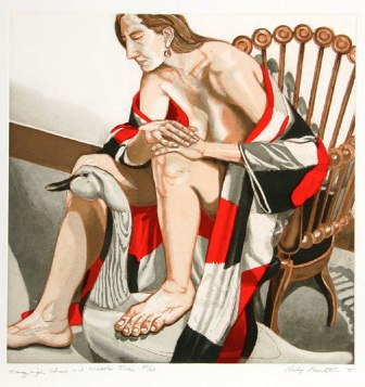 1995, Hunzinger Chair & Wooden Swan, Etching and Aquatint, 19.125 x 19 PPS135.jpg