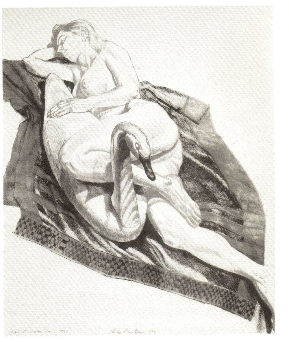 1987, Model with Wooden Swan, 1987, Lithograph, 21.5x18, PPS102 (2).jpg