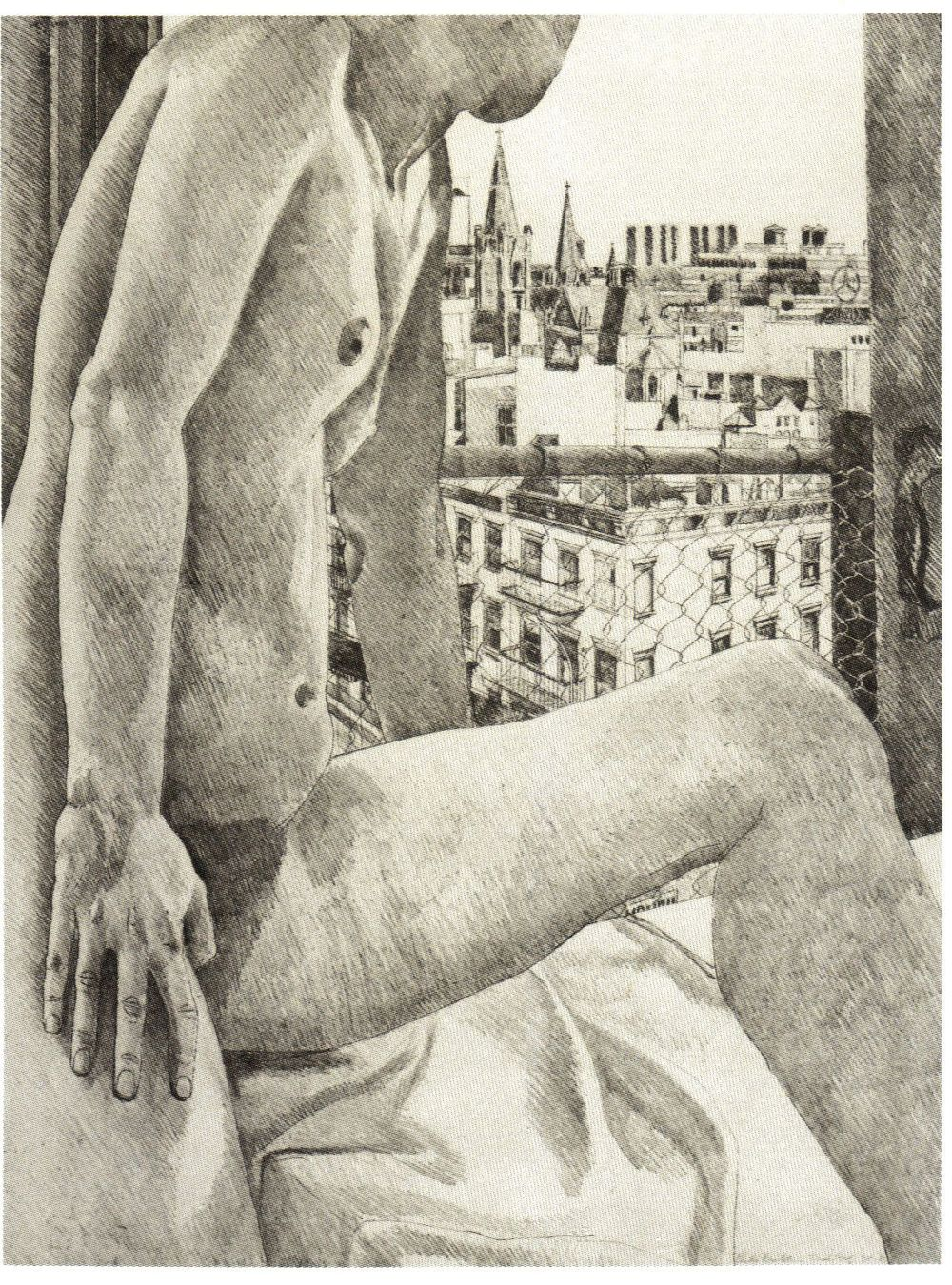 1985, Model & View of 9th Ave, Etching.jpg