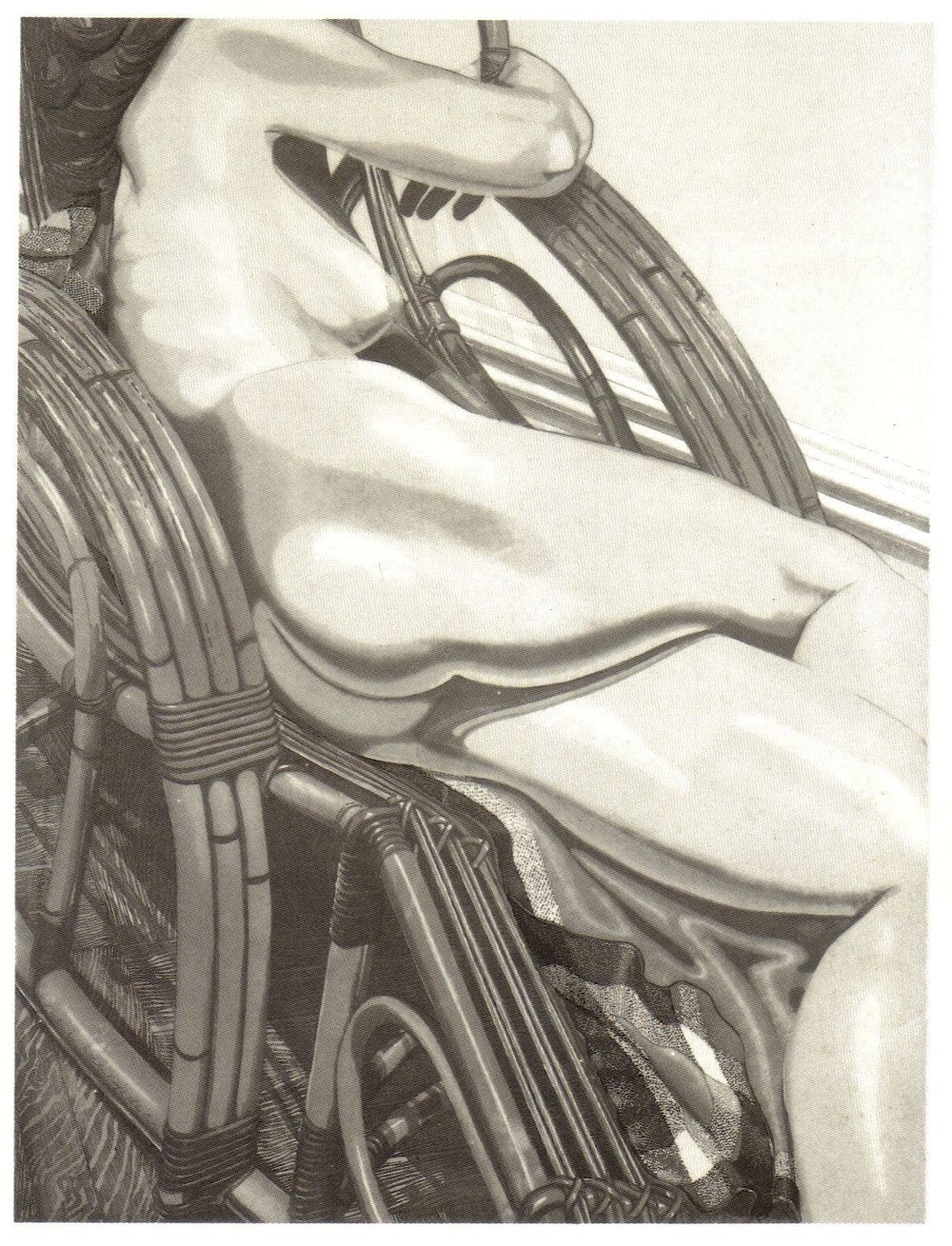 1984, Nude on Bamboo, 1984, Etching.jpg