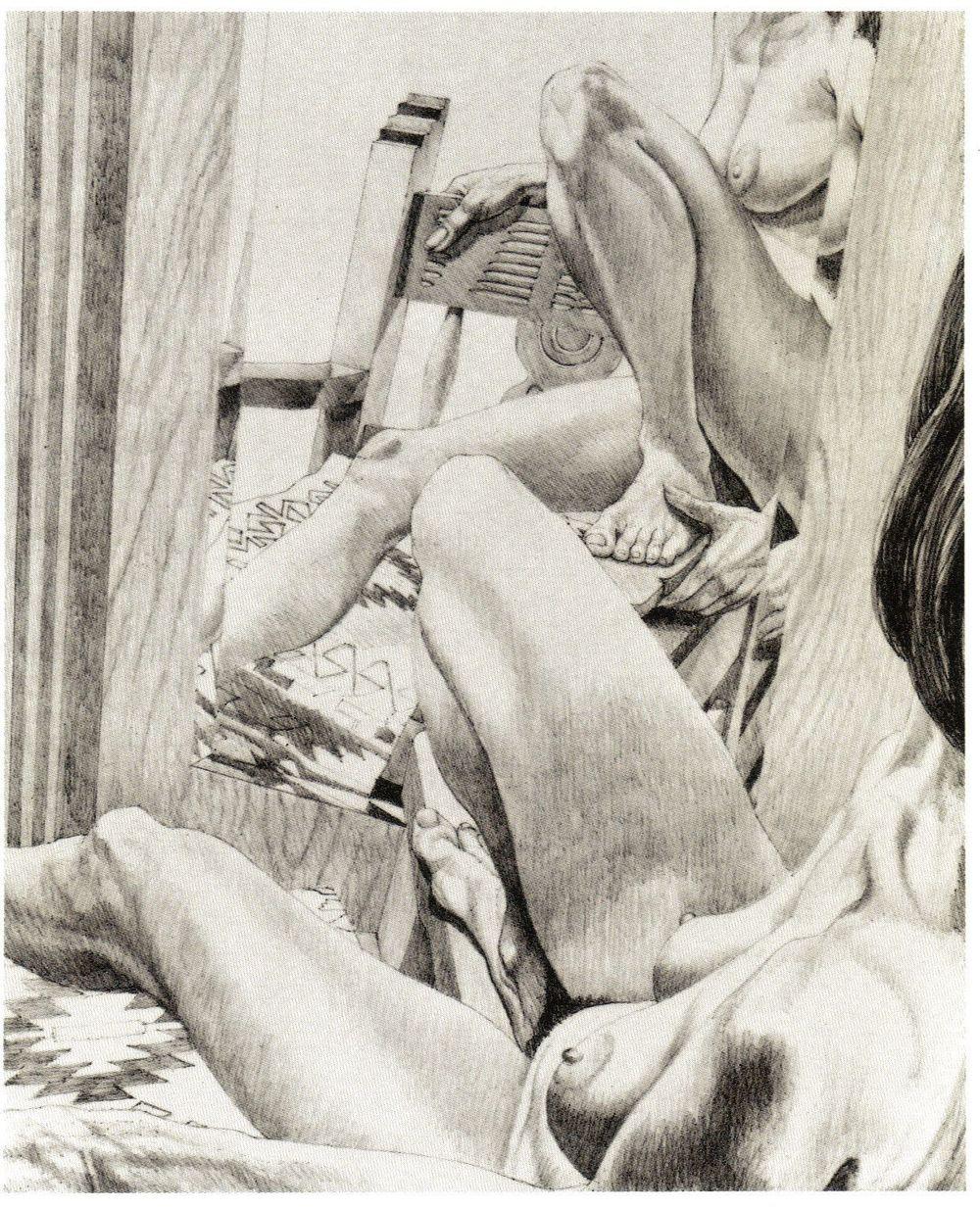 1983, Fiesta Nude (state II), Lithograph, 25.25x20.5.jpg