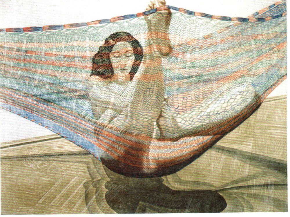 1982, Nude in Hammock, 1982, Etching.jpg