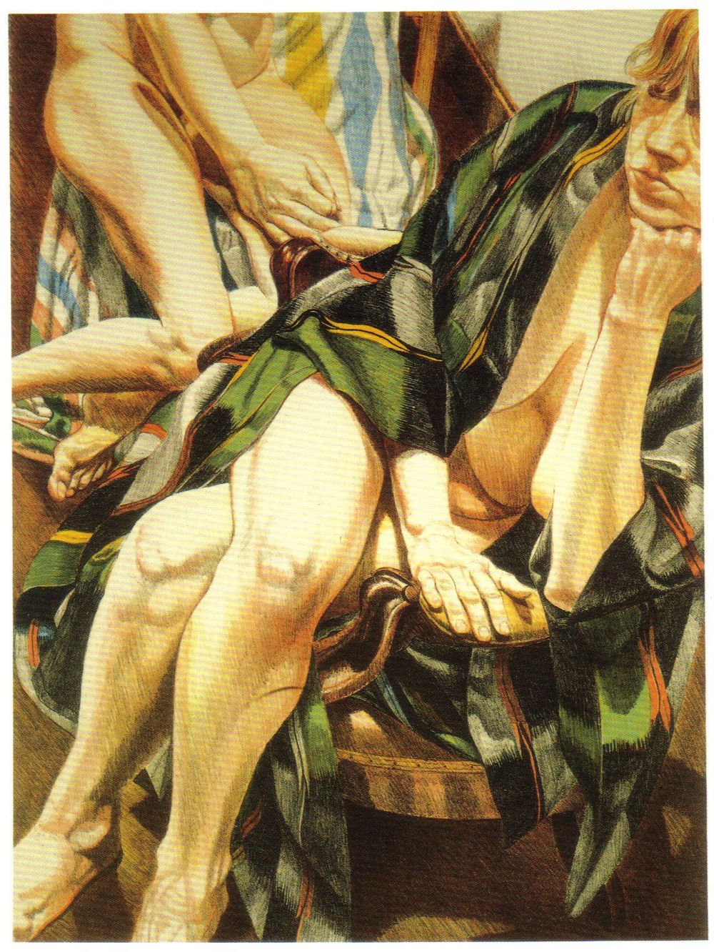 1981, Two Models in Omaha, 1981, Lithograph.jpg