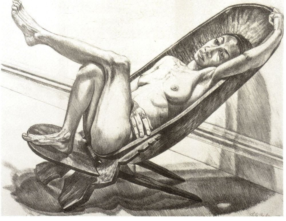 1980, African Chair,  Lithograph.jpg