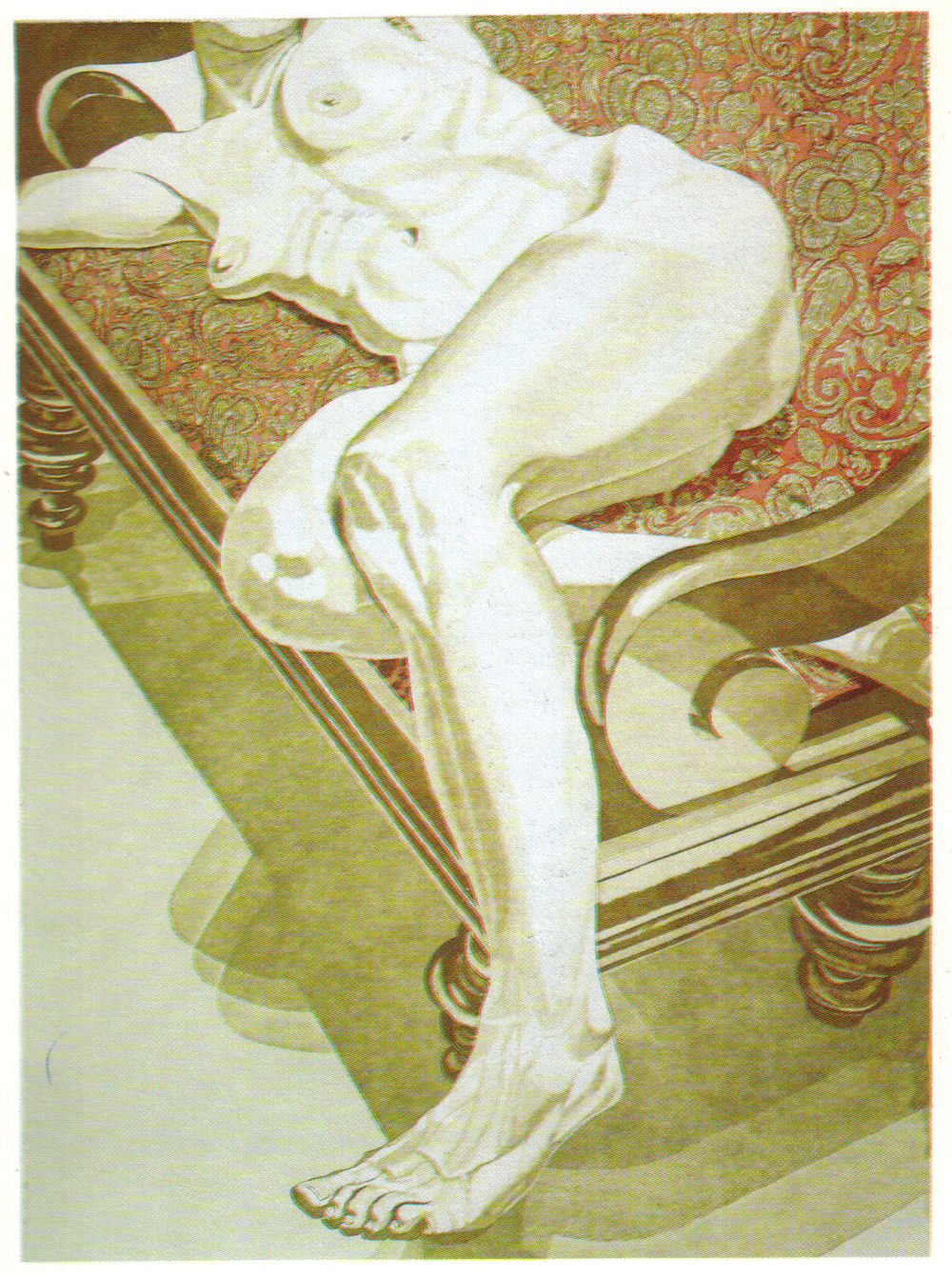 1978, Nude on Settee, 101.6x76.2 cm, color aquatint-line etching.jpg
