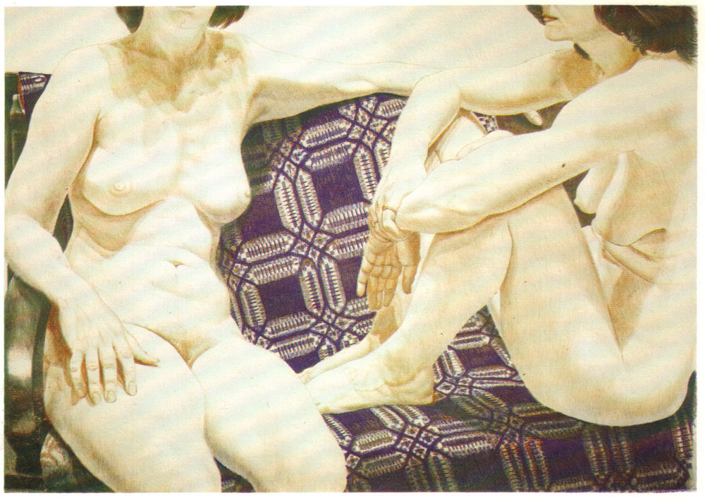 1977, Two Nudes on Blue Coverlet, 71.1x99.1 cm, color lithograph.jpg