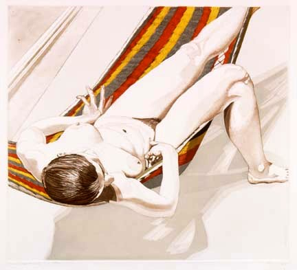 1974, Nude on Striped Hammock, 1974.jpg