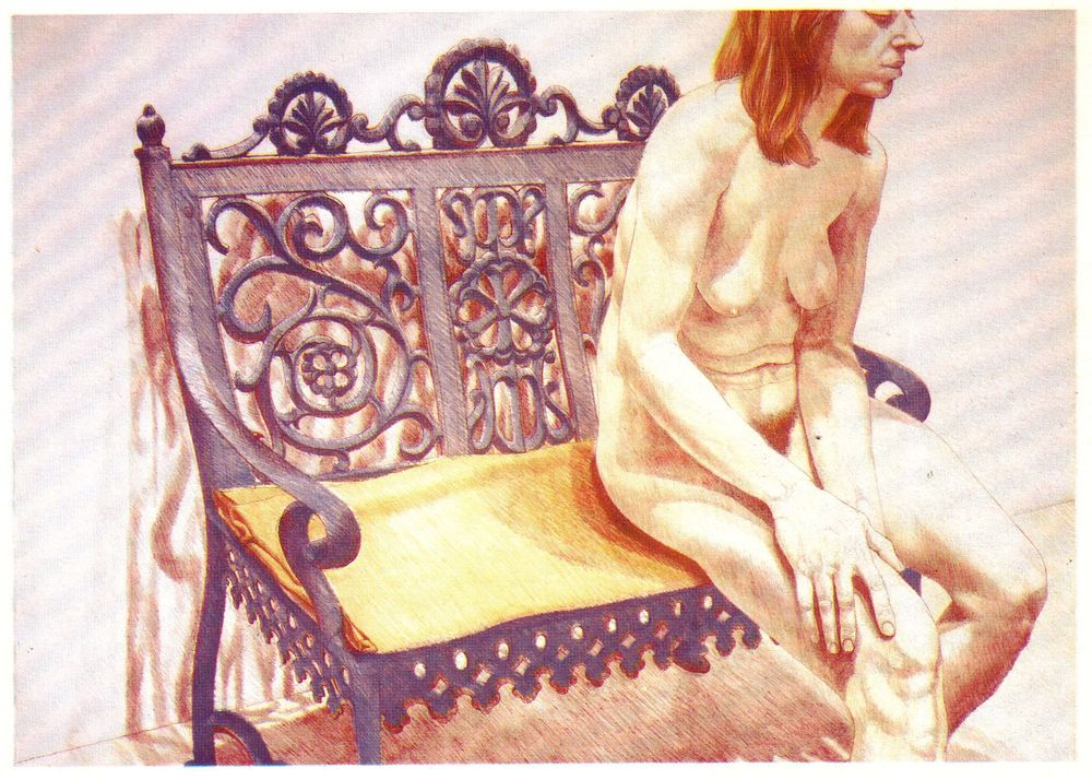 1974, Girl on Iron the Bench, 1974, Lithograph, 62.2x86.4 cm.jpg