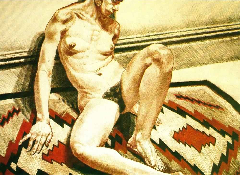 1972, Nude on Navajo Rug, 1972, Lithograph, 62.3x86.3 cm.jpg