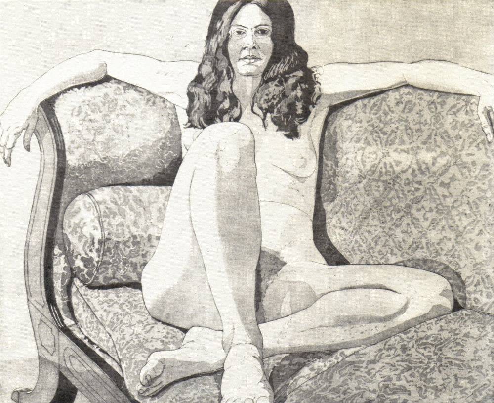1972, Nude on Couch, Arms Outstretched, 44.9x55 cm, aquatint-line etching.jpg