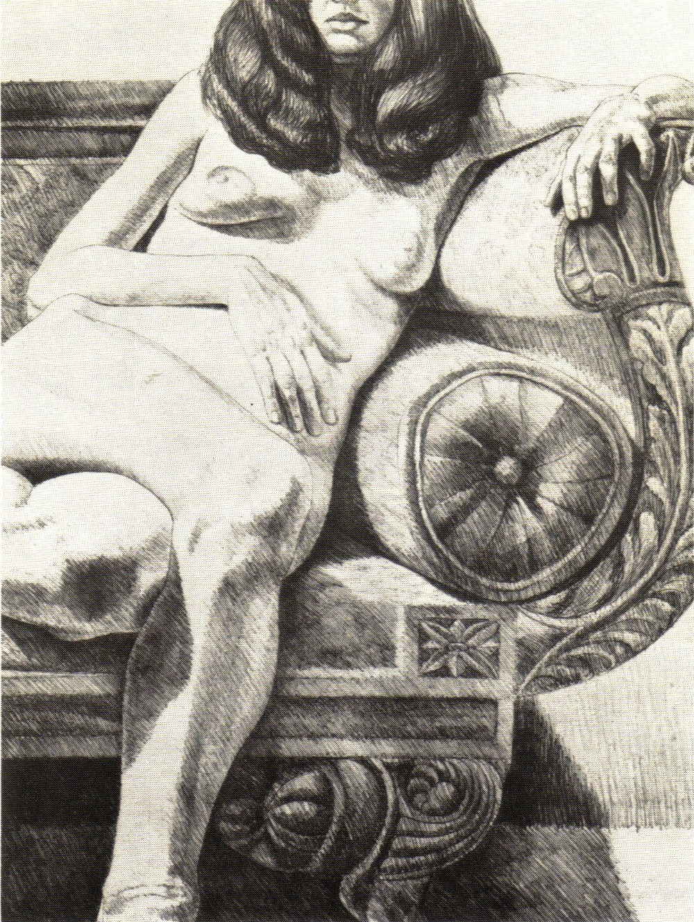 1972, Girl on Empire Sofa, Lithograph, 81.9x61 cm.jpg