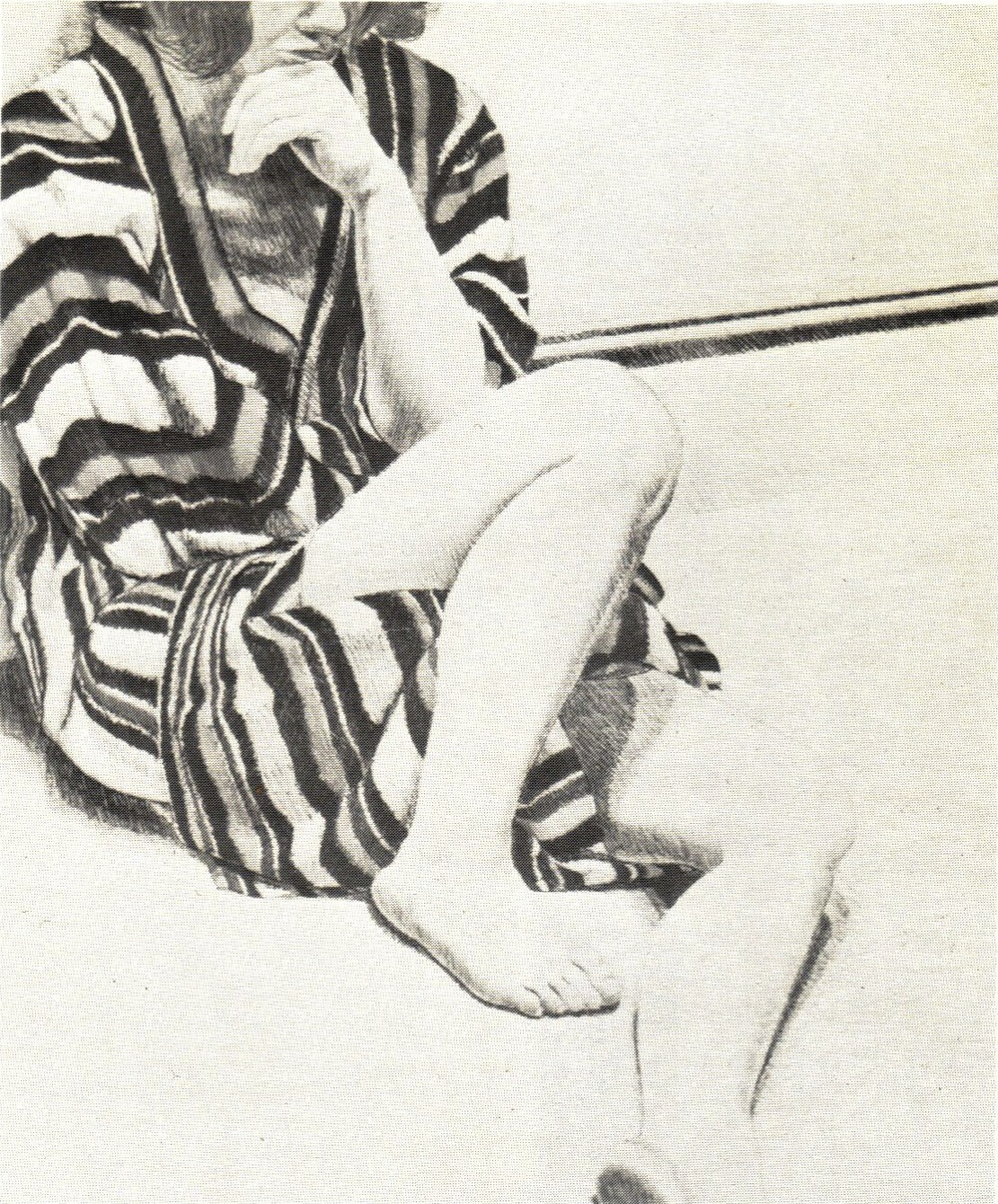 1972, Girl in Striped Robe, Lithograph, 68.6x55.9 cm.jpg