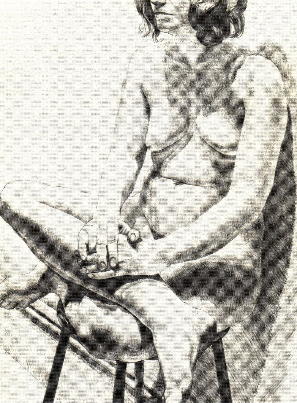 1971, Girl on Stool,  Lithograph, 61x45.7 cm.jpg