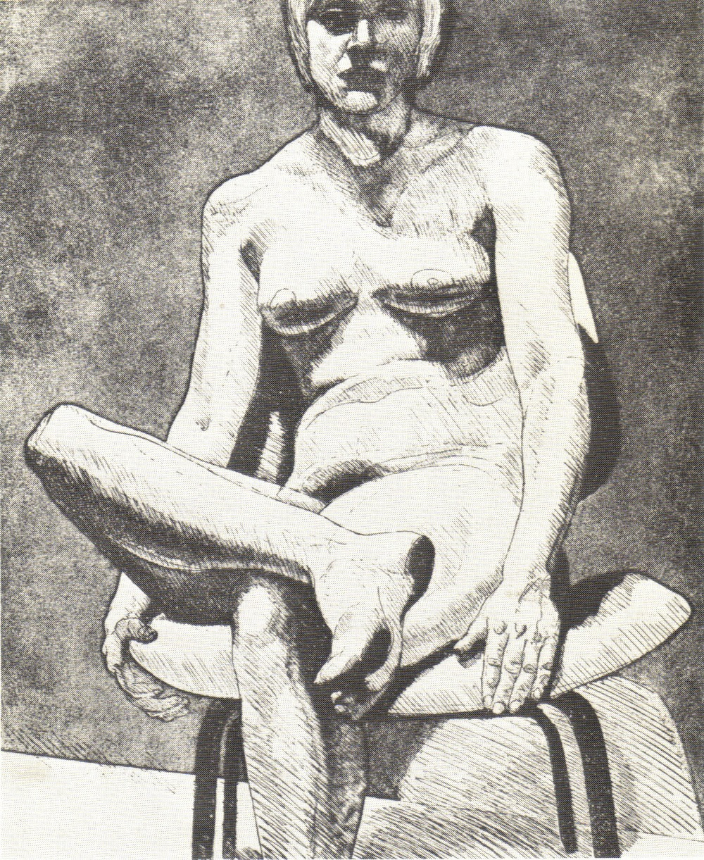 1970, Nude on Eames Chair, 44x36 cm, aquatint-line etching, PPS020.jpg