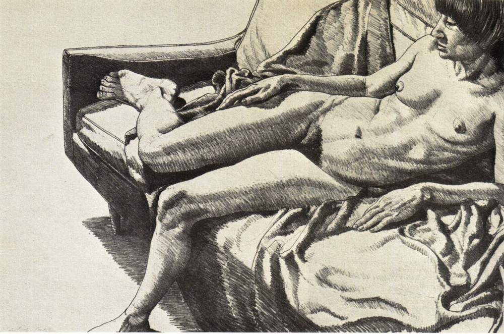 1970, Nude on Sofa with Drape, 1970, Lithograph, 43.5x66 cm.jpg