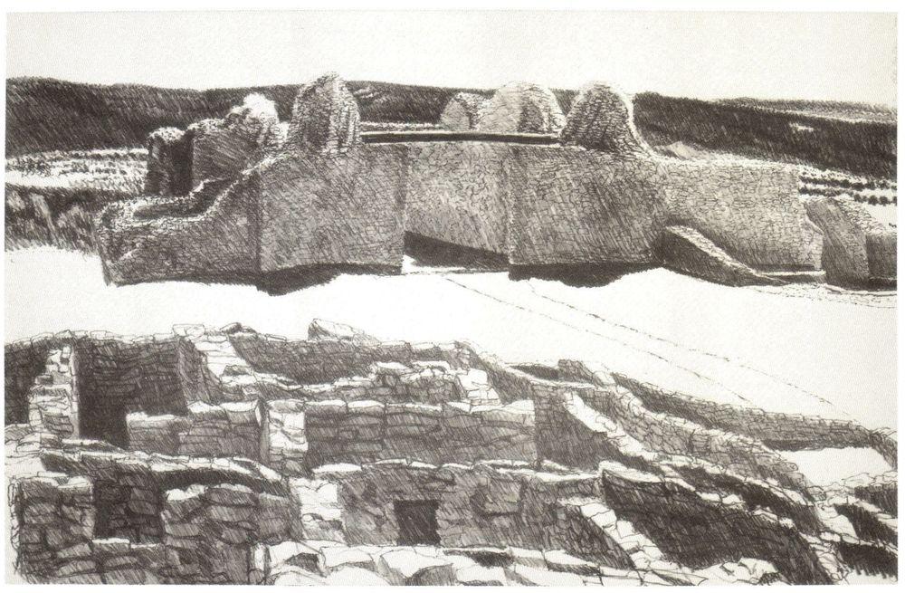 1978, Ruins at Gran Quivera, 1978, Lithograph.jpg