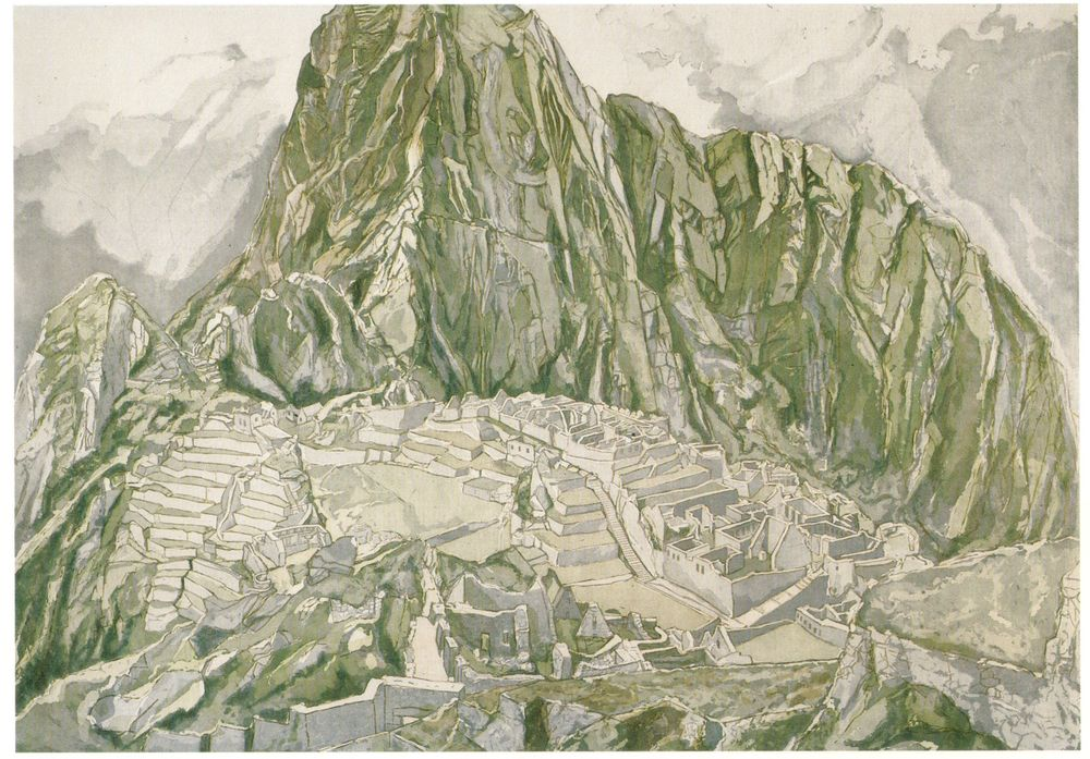 1978-79, Machu Picchu, Etching and aquatint, 28.25x40, 1978-79.jpg