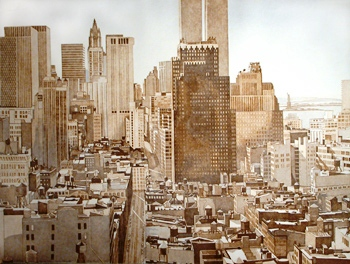 1978, View Over Soho, Lower Manhattan, Etching and aquatint, 30x40.jpg