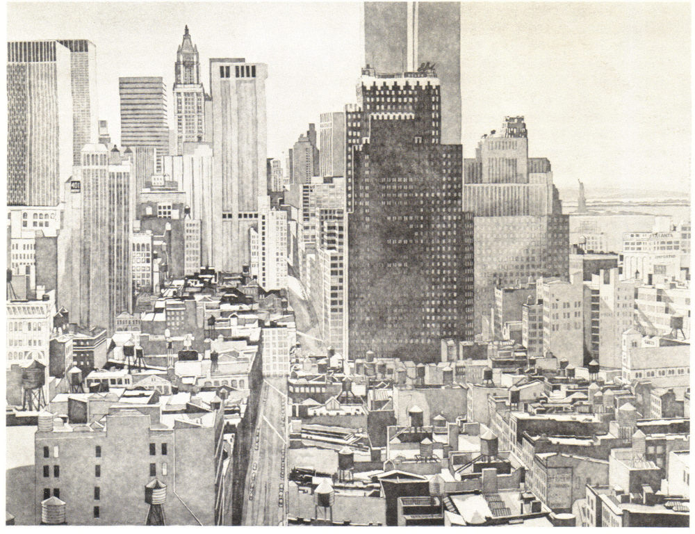 1978, View Over SoHo, Lower Manhattan, 1978, Etching, 76.2x101.6 cm.jpg