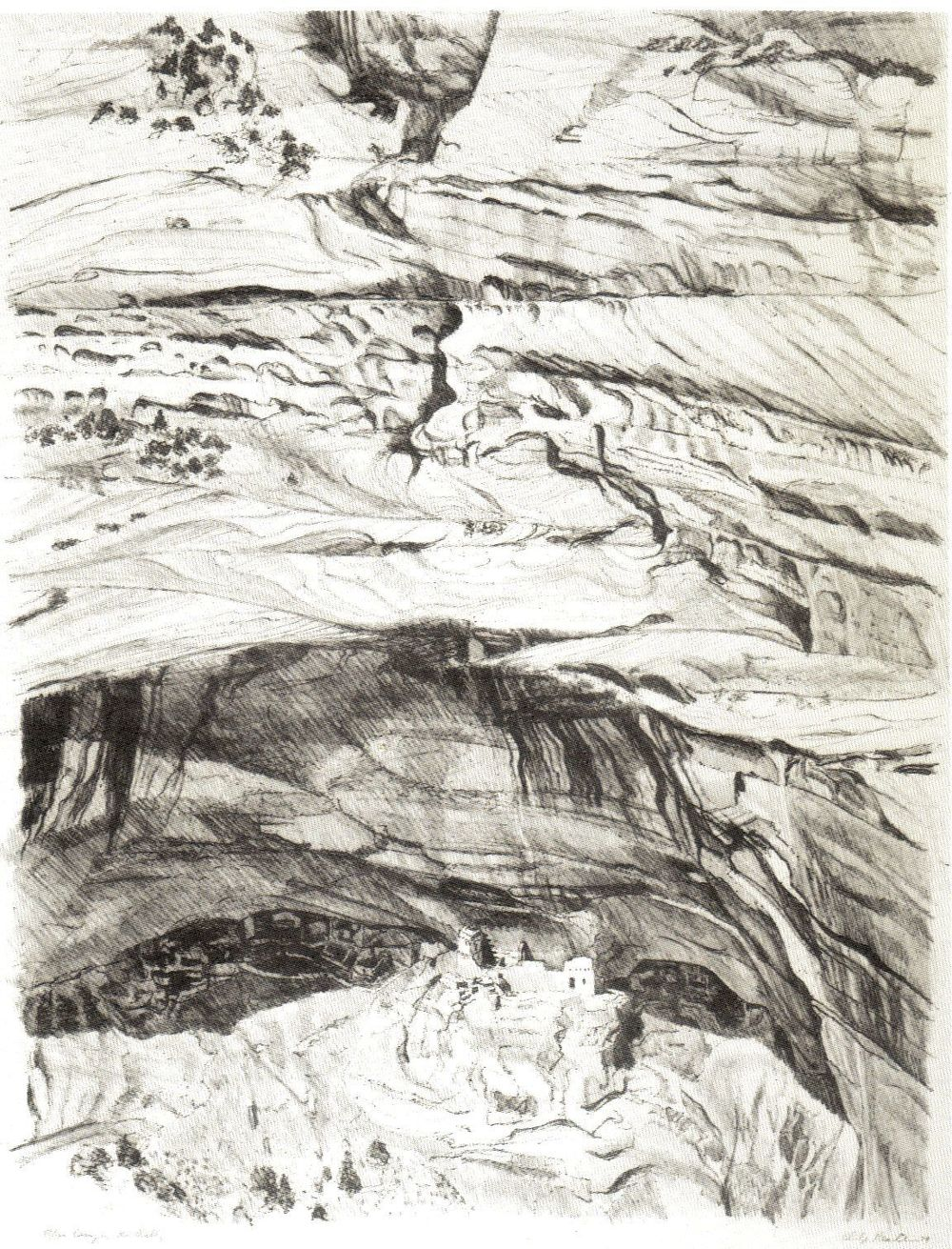 1979, Canyon de Chelly,  Lithograph.jpg