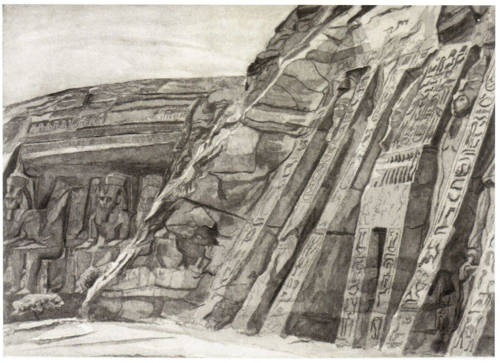 1979, Temple at Abu Simbel, 1979, Etching.jpg
