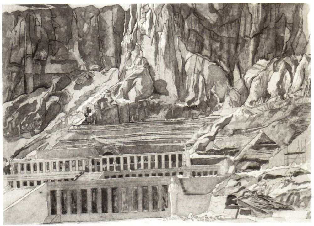1979, Temple of Hatshepsut, 1979, Etching.jpg