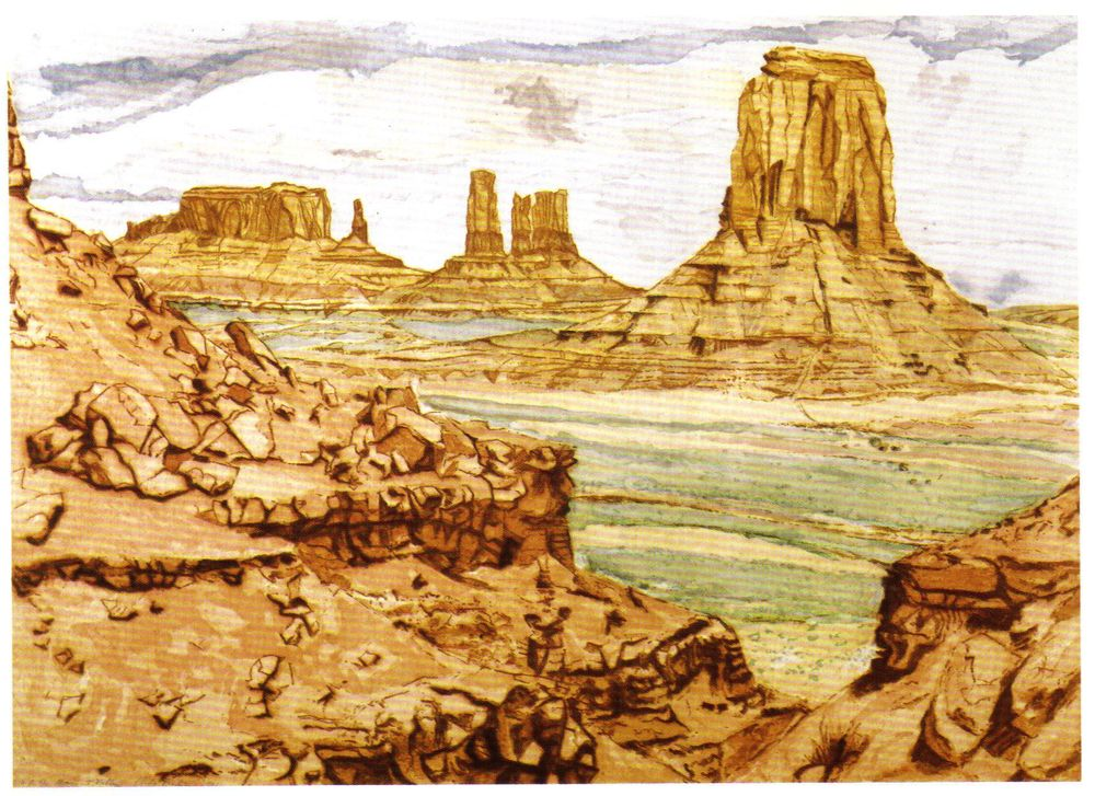 1981, Monument Valley, 1981, Etching.jpg