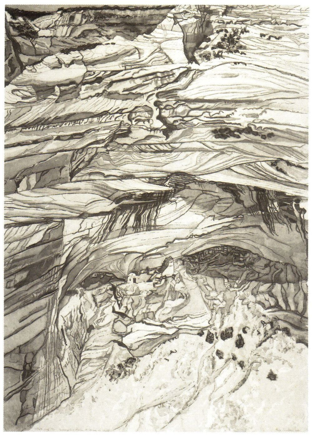 1981, Mummy Cave Ruins at Canyon de Chelly, 1981-81, Etching.jpg