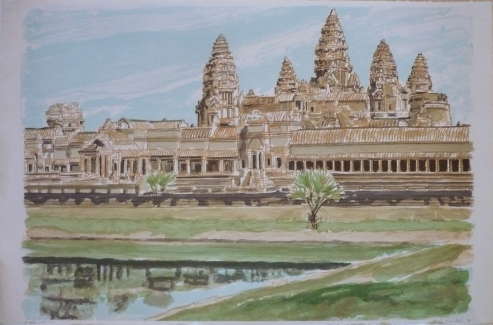 1998, Ankor Wat, Lithograph, 22x33 in.JPG