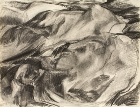 Rock Forms , 1955 Charcoal 18.876 x 24.75 in