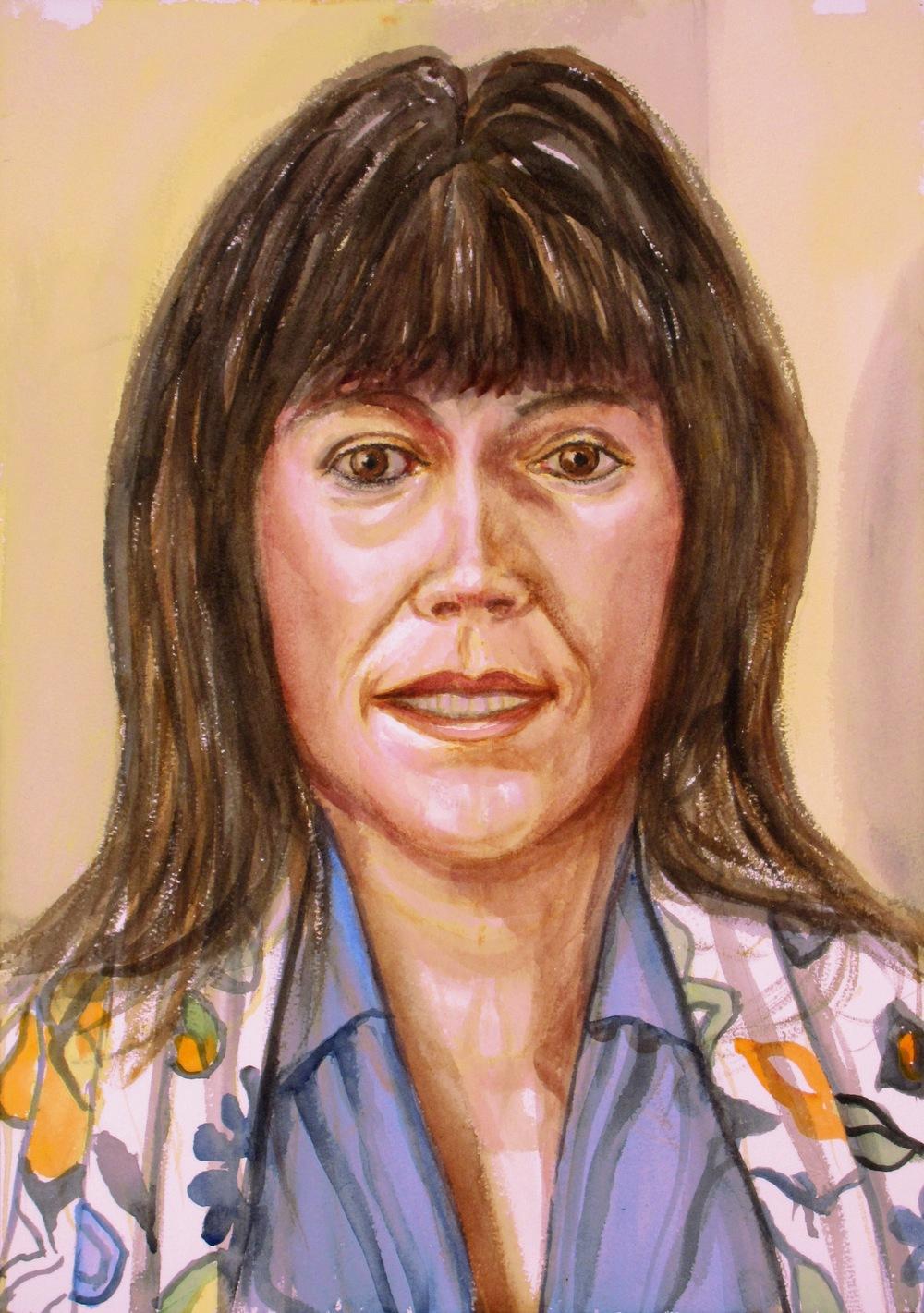 Carol Kaas , 2011 Watercolor 20 x 14 in