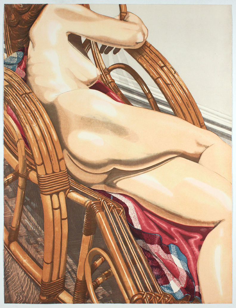 Nude on Bamboo , 1984 Etching, Aquatint  40.25 x 30.50 in