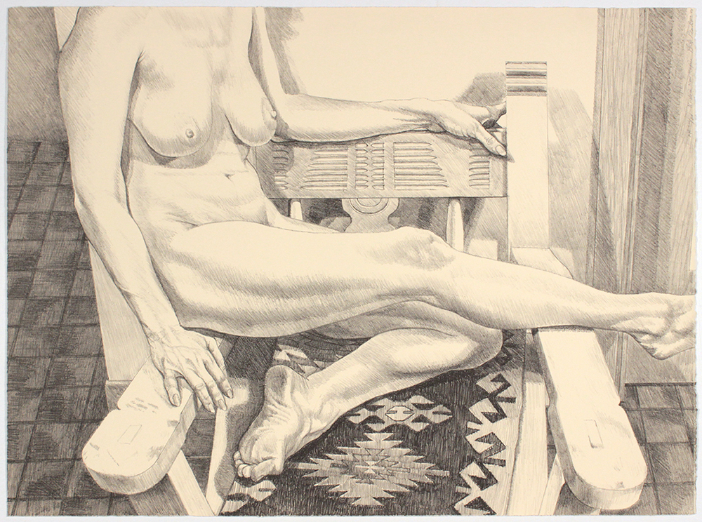 Nude in New Mexico , 1984 Lithograph 25 x 34 in