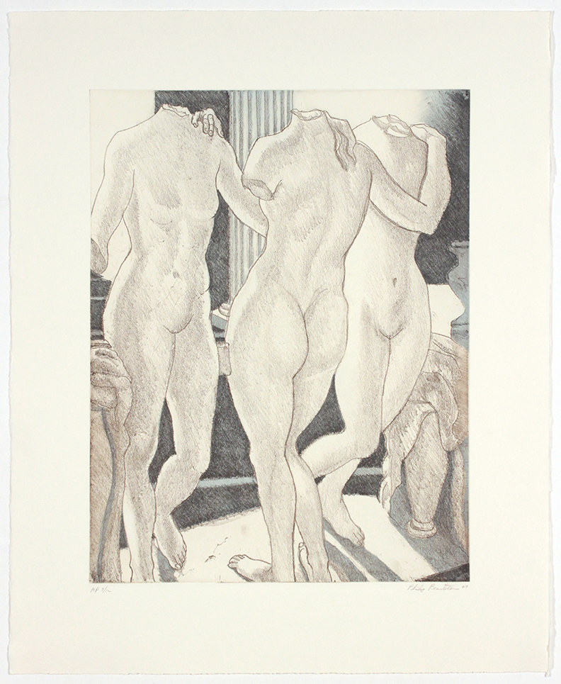 The Three Graces , 2007 Soft Ground Aquatint Etching 26.5 x 22 in