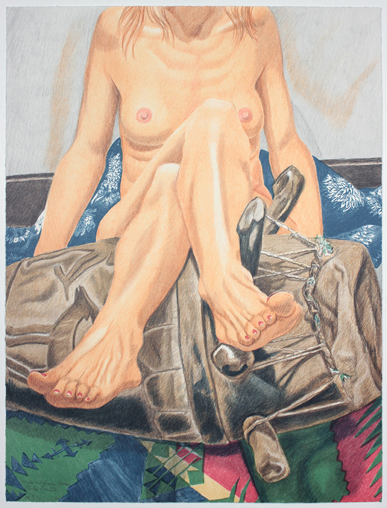 Nude and African Drum , 2006  Lithograph 29.5 x 22.25 in